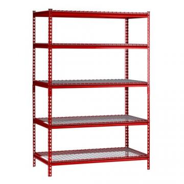 Two-Sided Floor Standing Metal Retail Merchandising Units with Hooks and Shelves