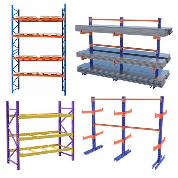 Heavy Duty Warehouse Storage Mobile Pallet Rack Cantilever Shelf
